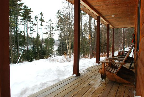 Sterling Ridge Resort: View from deck of cabin