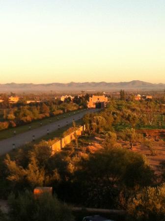Sahara Palace Marrakech: View from my room back towards Palace Entrance