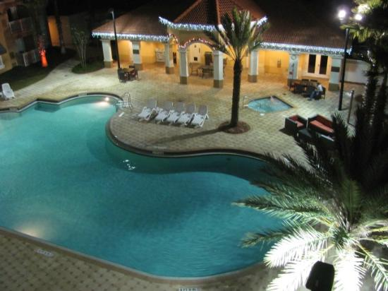 The Point Orlando Resort : View from balcony of the pool/workout room area