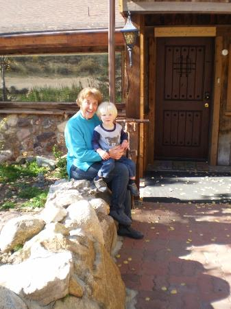 Ores and Mine Bed & Breakfast: Donna, owner with grandson