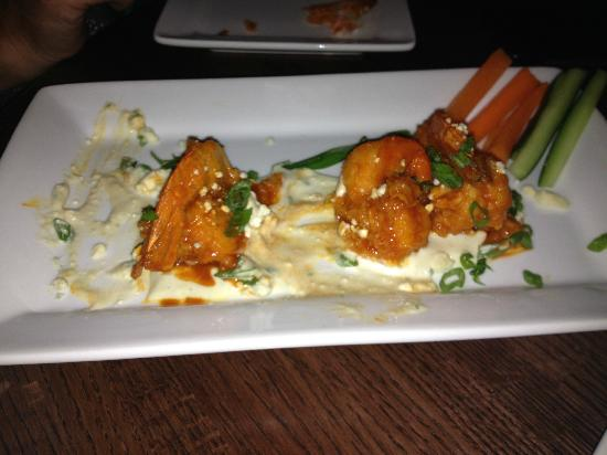 The Ale House Columbia: Crispy Buffalo Shrimp in a Blue Cheese pond