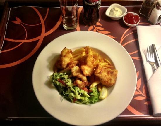 โรงแรมเชอราตัน สตอกโฮล์ม: fish and chips