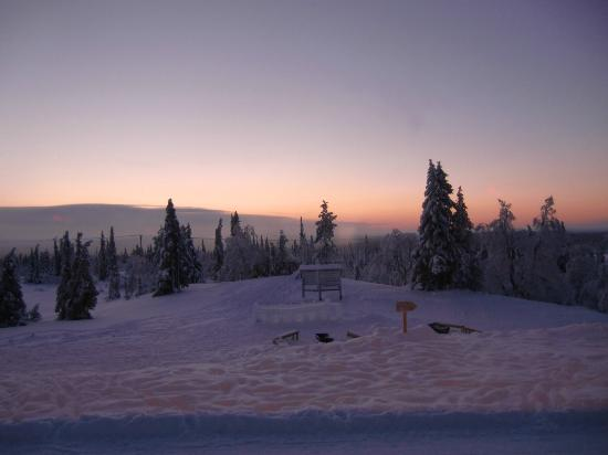 Lapland Hotel Pallas: View at sunset