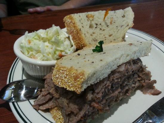 Brent's Delicatessen & Restaurant: Hubby's Sandwich!