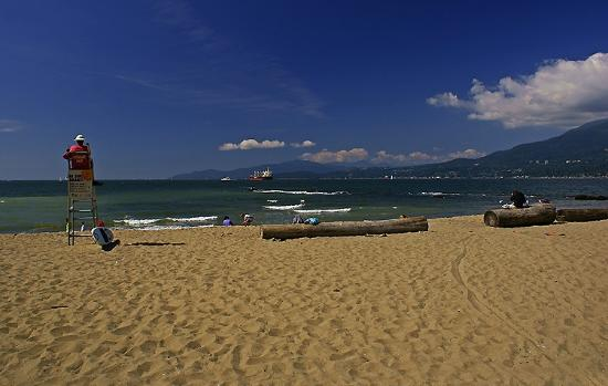 View from Third Beach in Stanley Park, Vancouver