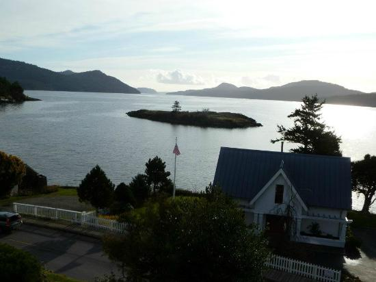 Outlook Inn on Orcas Island: View of Eastsound from one of the suites