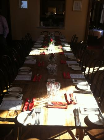 Customs House Hotel: our table
