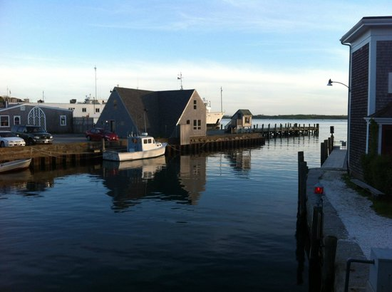 Woods Hole Drawbridge: View looking out towards the open ocean at the Drawbridge Woods Hole.