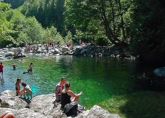 The 30 Foot Pool in Lynn Canyon Park
