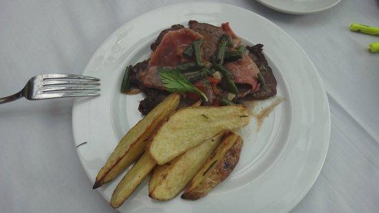 La Strada: O prato com um aspecto não muito convidativo.
