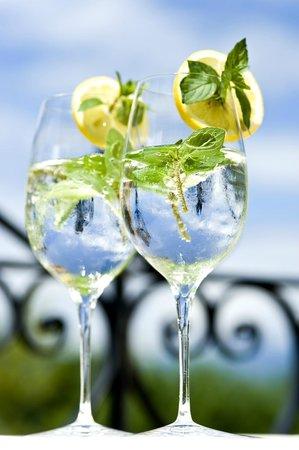 Hotel Spitaler: Drinks auf unserer Terrrasse