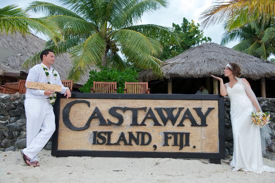 Castaway Island Fiji: wedding at castaway