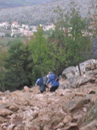 Medjugorje: bajada del cerro Krizevac