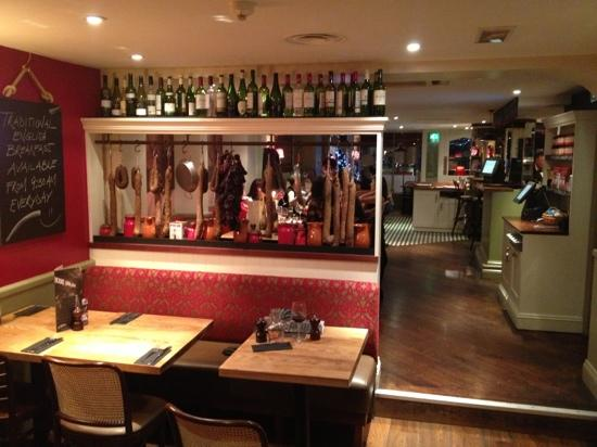 La Tasca Newbury: view from my table
