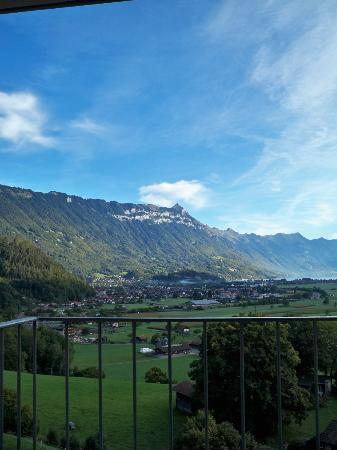 Hotel Berghof Wilderswil-Interlaken : Room view of the valley below