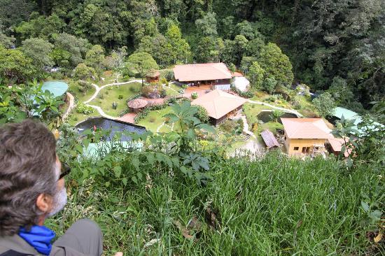 Trogon Lodge San Gerardo de Dota: overlooking trogon lodge