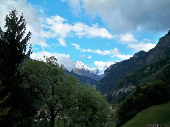 Hotel Berghof Wilderswil-Interlaken : Room view of the Jungfrau