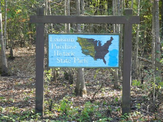 Brinkley, AR: Louisiana Purchase State Park sign
