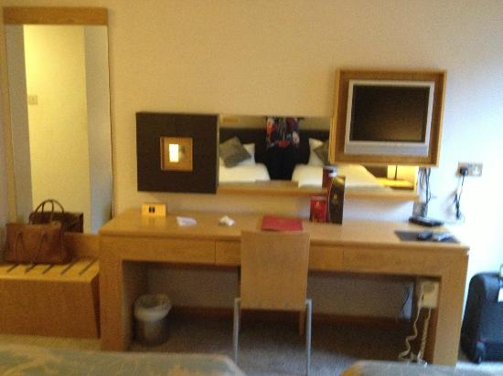 Madison's Hotel: Dressing table and the only chair in the room.