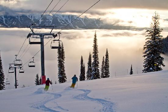 Fernie, Kanada: Sunrise and first tracks