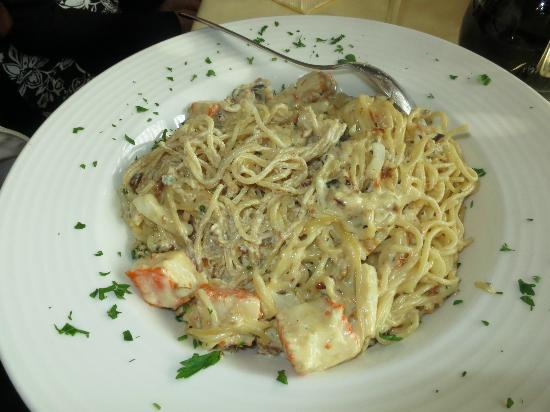 Gostilna in pizzerija Jurman: Seafood spaghetti in Oct. 2012, cooked too much, sticky and with surimi instead of seafood