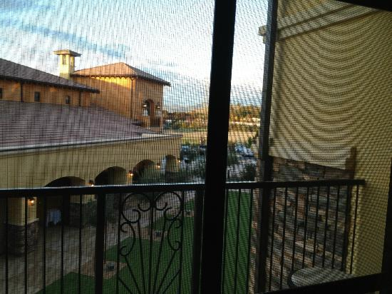 The Meritage Resort and Spa: View of the plaza area from room