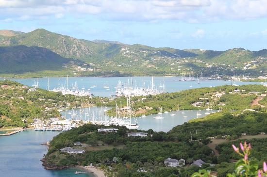 View of the marina from Shirley Heights