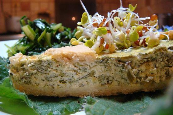 Ristorante Agrituristico Il Colibri: Torta di tofu, porri e germogli di soia