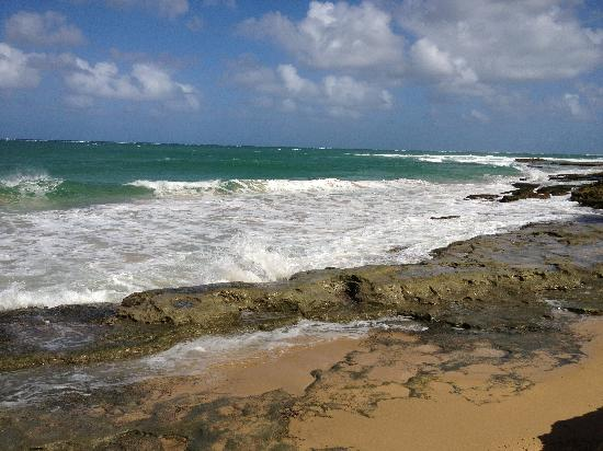Sandy Beach Hotel: Beach feet from