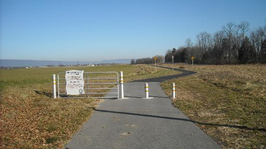Cumberland Valley Rail Trail: Britton Road Crossing, looking towards Newville