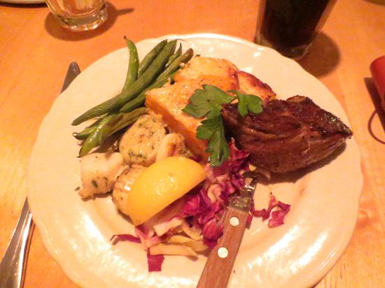 Magpie: Sirloin tip and scallops with fennel butter