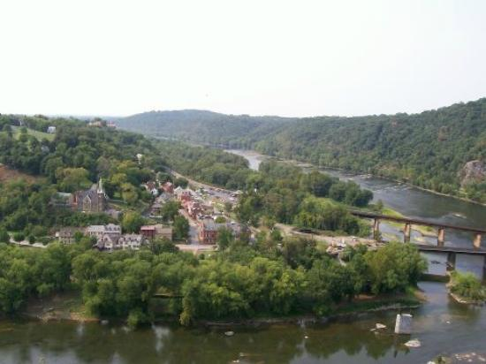 Harpers Ferry National Historical Park: View of Harpers Ferry from Loudoun Heights