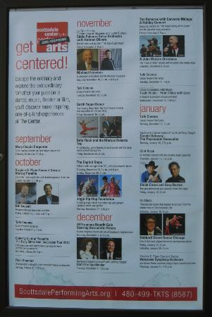 Scottsdale Center for the Arts: Event Schedule-past & future