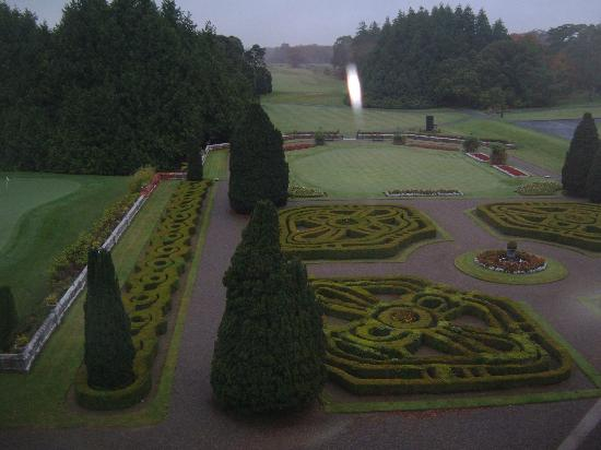 Adare Manor Guest Suite View of Formal Gardens