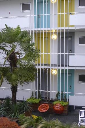 The Burrard: Splashes of colour and palms brighten up a wintry day.