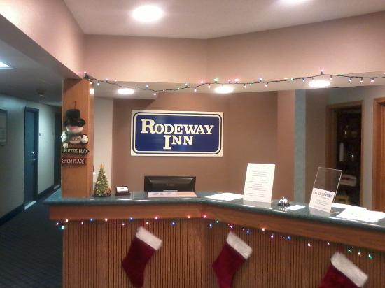 Rodeway Inn: The Newly Redocorated Guest Services Area.