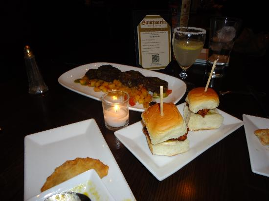 cuban chicken sliders  great flavor but only 2 - Picture of