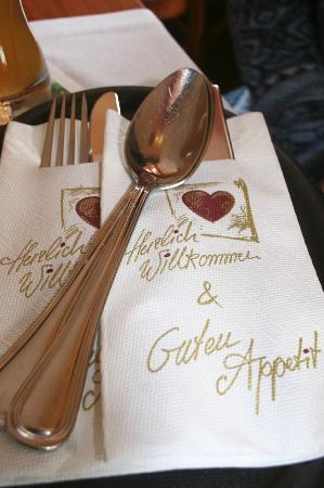 Bistro zum See: Place setting - great first impression