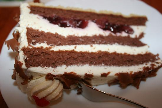 Bistro zum See: Black Forest Cake with liqueur - SO YUMMY