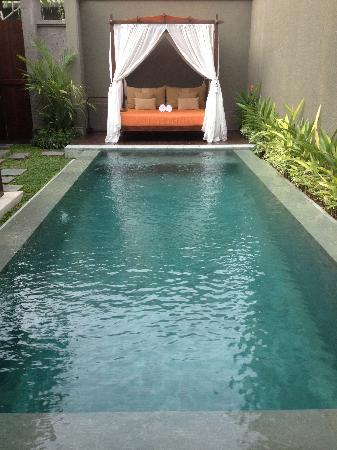 Seminyak Icon: Pool and sunbed