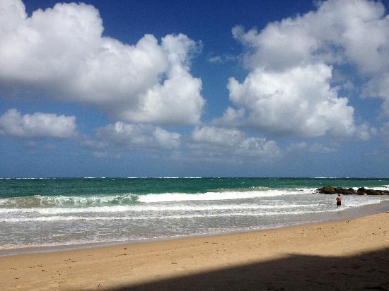 Sandy Beach Hotel: Condado Beach during winter - very windy but nice!