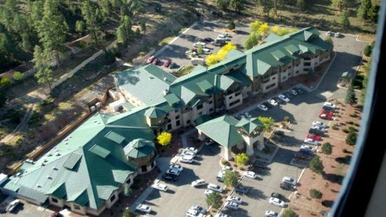 The Grand Hotel at the Grand Canyon: the hotel from the air