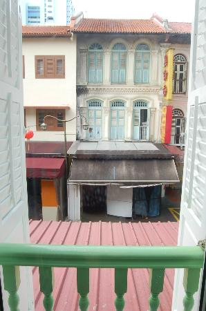 A Beary Good Hostel: View out to Pagoda Street