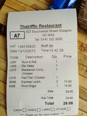 Thairiffic: Bargain!!