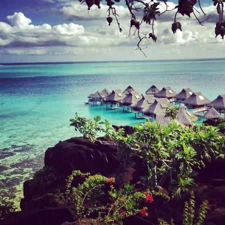 Conrad Bora Bora Nui: View from the resort spa.