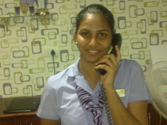 Hotel The Queeny: Lady Receptionist - Ms Beisy - Always Smiling & Having Great Managing Capabilities
