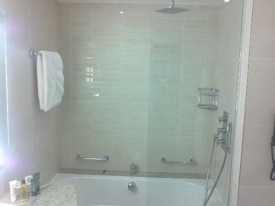 London Hilton on Park Lane: Bathtub with big shower head