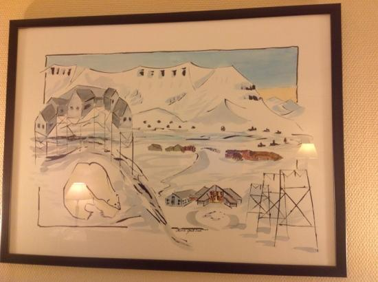 Radisson Blu Polar Hotel, Spitsbergen, Longyearbyen: Absolutely love this picture in room 217