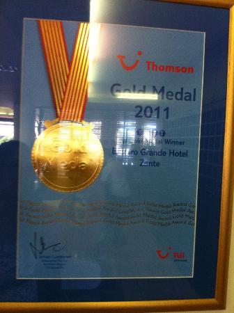 Bitzaro Grande Hotel: médaille