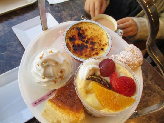 Konigs Krone The Dankecollection: 上段 クリームブリュレが美味しい!アイスクリームやチーズケーキも。